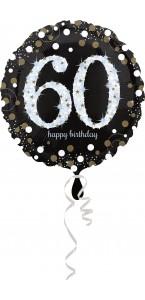Ballon Sparkling Celebration Birthday 60