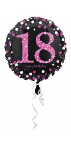 Ballon Sparkling Celebration rose Birthday 18  ans