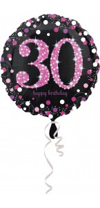 Ballon Sparkling Celebration rose Birthday 30 ans
