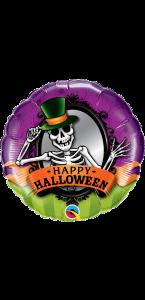Ballon Squelette et miroir Halloween 45 cm
