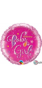 Ballon Welcome baby boy bleu 45 cm