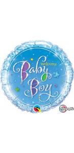 Ballon Welcome baby girl rose 45 cm