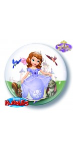 Ballons Bubble Princesse Sofia transparent
