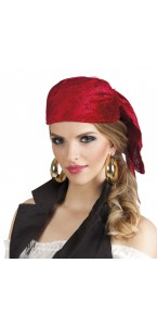 Bandana coque pirate Rowan rouge