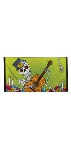 Bannière Jour des morts Halloween 74 x 220 cm