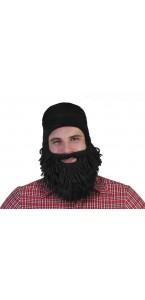 Barbe noire avec bonnet