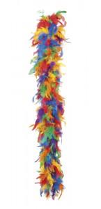 Boa en plumes multicolore