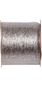 Bobine de cordon laitonné papier métallisé argent