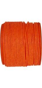 Bobine de cordon laitonné papier orange