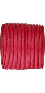 Bobine de cordon laitonné papier rouge