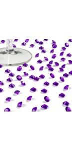 Boîte de 500 diamants aubergine 8 mm