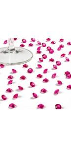 Boîte de 500 diamants fuschia 8 mm