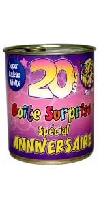 Boîte surprise anniversaire Femme 20 ans