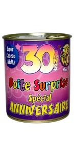 Boîte surprise anniversaire Femme 30 ans