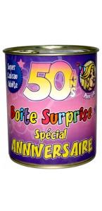 Boîte surprise anniversaire Femme 50 ans