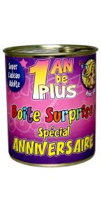 Boîte surprise anniversaire Femme tout âge
