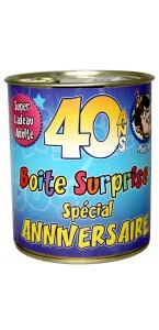 Boîte surprise anniversaire Homme 40 ans