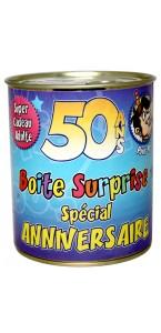 Boîte surprise anniversaire Homme 50 ans