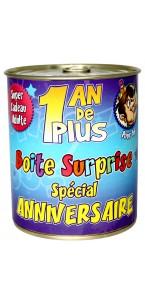 Boîte surprise anniversaire Homme tout âge