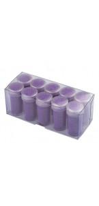 Boîte verseuse paillettes fluo prune 14 ml