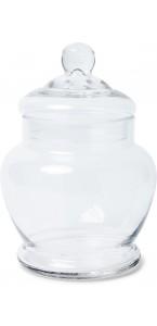 Bonbonnière d'Antan en verre 13,5 x 18,5 cm