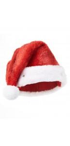 Bonnet de père Noël peluche