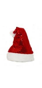 Bonnet de père Noël sequins