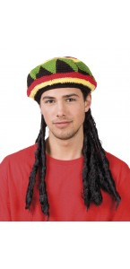 Bonnet Rasta avec dreadlocks noires
