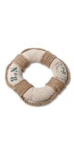 Bouée de marin lin et corde D 16 cm