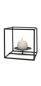 Bougeoir Cadre carré GM noir 18 x 18 x 18 cm