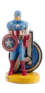 Bougie Captain América 9,5 cm