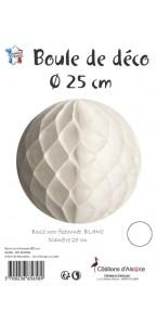 Boule alvéolée ballon blanc 25 cm