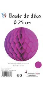 Boule alvéolée ballon fuschia 25 cm
