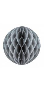 Boule alvéolée ballon gris 30 cm
