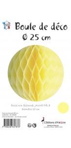 Boule alvéolée ballon jaune 25 cm