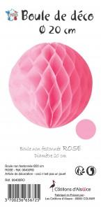 Boule alvéolée ballon rose 20 cm