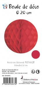 Boule alvéolée ballon rouge 20 cm