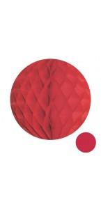 Boule alvéolée ballon rouge 25 cm