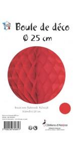 Boule alvéolée ballon rouge 30 cm