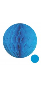 Boule alvéolée ballon turquoise 20 cm