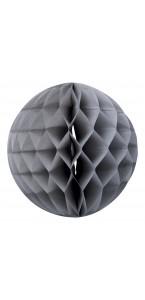 Boule alvéolée grise D 15 cm
