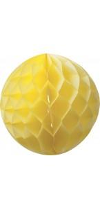 Boule alvéolée  jaune D 15 cm