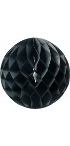 Boule alvéolée noire D 15 cm