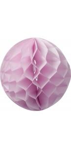 Boule alvéolée  rose D 15 cm