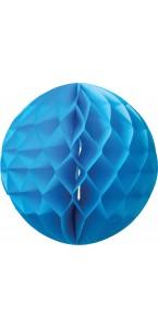 Boule alvéolée  turquoise D 25 cm