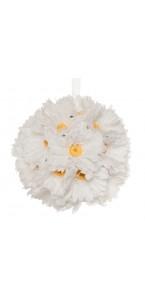 Boule gerberas blancs à suspendre 23 cm