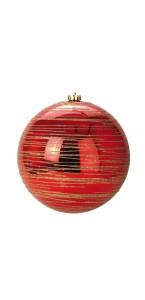 Boule rouge  D 20 cm