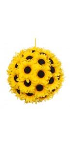 Boule Tournesol jaune à suspendre 23 cm