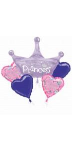 Bouquet de ballons Princesses anniversaire