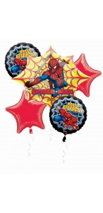 Bouquet de ballons Spiderman anniversaire